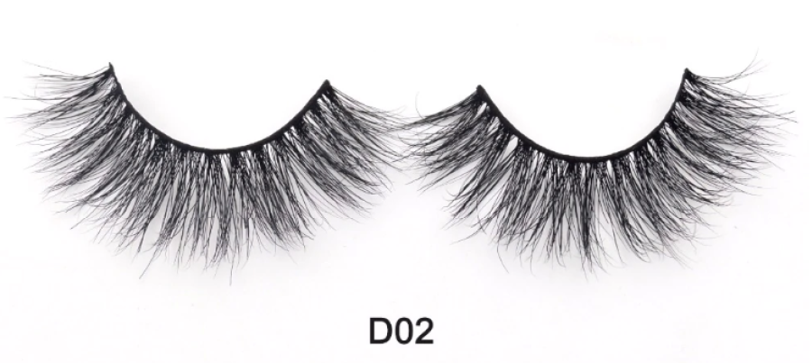 Natūralios audinės blakstienos D02 modelis